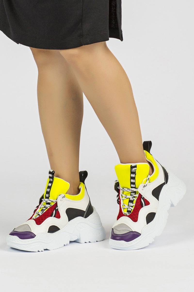 Tommy Life Gri-Sarı Kadın Sneaker